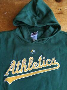 NWT Majestic Oakland A's Athletics MLB Baseball Pullover Hoodie Sz Youth Medium