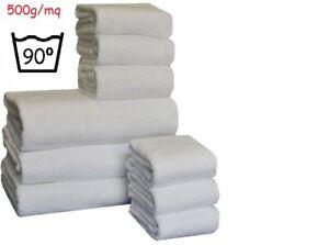 Set asciugamani bianchi in spugna hotel b&b spa Completo tre asciugamani bagno