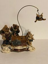 Boyds Bears Resin The Flying Lesson This End Up Angels Bearstone Cloud 227801