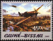 WWII Curtiss P-40 / P-40B Warhawk Fighter & Ground Attack Aircraft Stamp