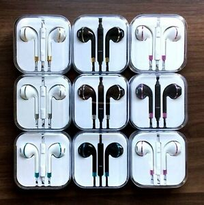 New Colour Headphones Earphone Handsfree With Mic iPhone SE 8 8+ 7 7+ XR XS X 11
