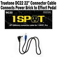 "1-SPOT 22"" Connector Cable Guitar Pedal Adapter DC22 Truetone Visual Sound NEW"