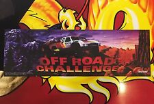 Off Road Challenge Arcade Marquee Midway Translight Header Sign Backlit