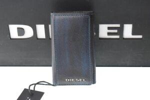 DIESEL LEATHER KEYCASE KEYS HOLDER BLACK BLUE BRAND NEW GENUINE RRP £80 SALE