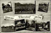 NUSSDORF Inn ~1960 alte Postkarte Mehrbild-AK Bayern, Inn-Tal, ungelaufene AK