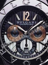 BVLGARI Calibro 303 Chronometer mens wrist watch advertisement A4 size HQ print