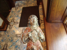 ANTIQUE CHRISTIAN CARVED WOODEN SANTO ORIGINAL PAINT LATE 1700-1820