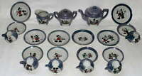 EX!MATCHING GRAPHICS:DISNEY1930's 23 PIECE MICKEY MOUSE LUSTERWARE CHINA TEA SET