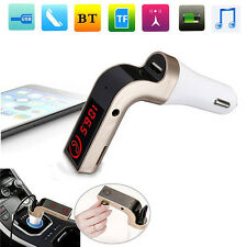 G7 Bluetooth USB Charger Car Kit Handsfree FM Transmitter Radio Music MP3 Player
