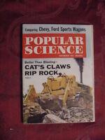 POPULAR SCIENCE Magazine Novemeber 1960 Crawler Tractors Ford Sports Wagons