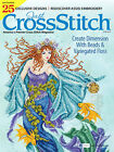 JUST CROSS STITCH Magazine:  May - June 2017 Issue - Mermaid - Sampler - Flowers