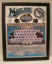 Florida  Marlins 2003 World Series Championship Plaque by Healy Awards