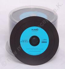 Vinyl CD-R Carbon,25 Stück in Cake,700 MB zum archivieren, Dye schwarz, blau