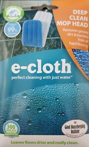 E-Cloth Deep Clean MOP HEAD Polyester Remove Grease Dirt Bacteria 1 pk 10621 NEW