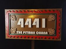 Personalized Polynesian Themed Address Numbers Plaque w/ Family Name