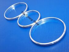 For Opel Vauxhall Corsa C 00-06 Chrome Heater Rings Polished Aluminium Surrounds