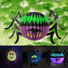 Halloween Hanging Lantern Bat Spider Ghost Shape Paper For Party Hot Decoration