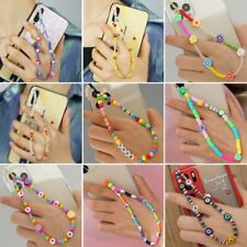 Acrylic Mobile Phone Strap Colorful Beads Rope Hanging Phone Chain Accessories