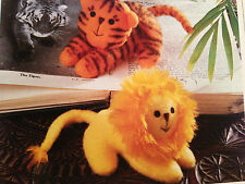 Sewing pattern Jean Greenhowe Jungle Beanie Toys Lion Tigre Animal miniatures