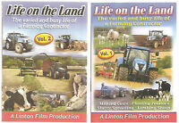 LIFE ON THE LAND VOLUME 1 & 2 DVD'S - FARMING ANIMALS COUNTRYSIDE TRACTORS NEW