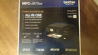 Brother MFC-J870DW Compact Wireless Inkjet All-in-one Color Printer