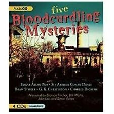 Five Bloodcurdling Mysteries by Various Authors 2012 Unabridged 4 CD's Brand New
