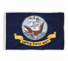 3x5 ft Us Navy Military Official Logo Insignia Flag Outdoor Nylon Made in Usa