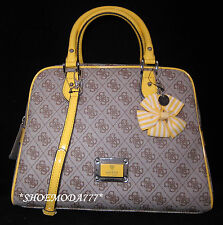 GUESS by Marciano SKYA Box Dome Satchel Bag Purse Handbag Monogram Bow  Charm New 9962f9d12e1eb