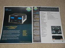 McIntosh MC252 Power Amplifier Brochure, 2003, 2 pages, Specs, Article, RARE!