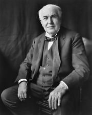 1922 Inventor THOMAS EDISON Glossy 8x10 Photo Print Historical Portrait Poster