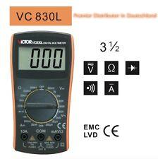 VC830L Victor Classic Digital Multimeter 3 1/2 DC AC Kap.Res.Fr. sofort von DE !