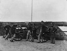 3rd Massachusetts Artillery Cannon Caisson Washington DC 8x10 US Civil War Photo