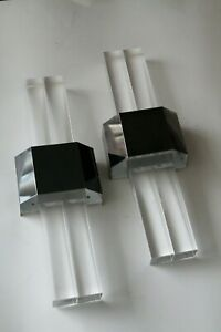 """PAIR of Lucite Wall Lights """"HOLLYWOOD WALL LIGHT"""" by Bella-Figura ITALY"""