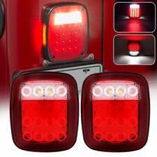 Universal Led Trailer Tail Lights Brake Turn Signal Reverse Running Back Up Stop