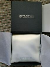 TAG HEUER (White) SOFT LEATHER TRAVEL POUCH & PILLOW (New In box)