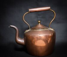 Antique Victorian Copper Kettle Tin Lined with Brass pins and seams