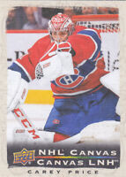 20/21 TIM HORTONS..CAREY PRICE..CANVAS..# C-11..CANADIENS..FREE COMBINED SHIP