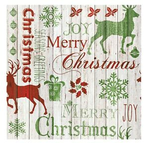 Christmas Napkins for Decoupage Paper Craft Serviettes Merry 33x33cm 3PLY x20