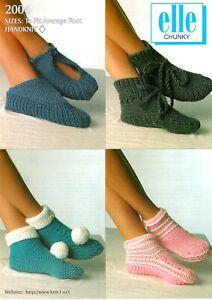 Bed Sock Chunky Knitting Pattern 2004