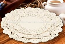 30pcs 3 Sizes Round White Lace Hollow Paper Doilies Cake Placemat Crafting