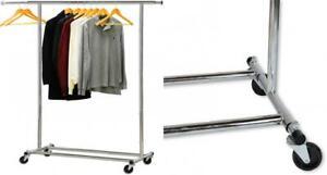 Simple Houseware Heavy Duty Clothing Garment Rack, Chrome Standard