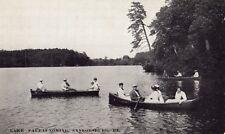Lake Paupaunoming People on Baots in Saylorsburg PA OLD