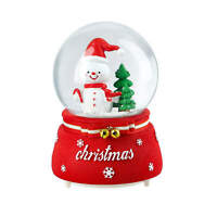 Christmas Musical Snow Globe Mr. Snowman Christmas Gift Home Table Decor
