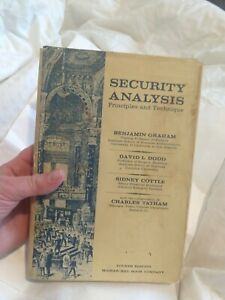 Security Analysis Principles and Technique 4th edition by Benjamin Graham