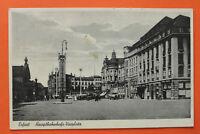 Thüringen AK Erfurt 1935 Hauptbahnhof Bahnhof Vorplatz Hotel Oldtimer Gebäude ++