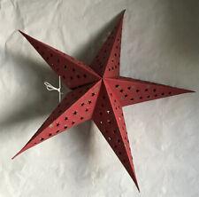 "22"" Red Paper Star Hanging Lantern Lamp (No Light Cord)"