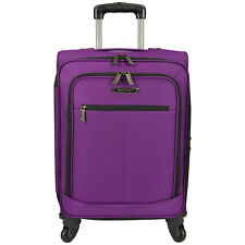 """Traveler Choice Purple 22"""" Carry-On Soft Expandable Spinner Luggage Suitcase Bag"""