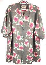 Tommy Bahama Mens Original Fit Floral Silk Short Sleeve Shirt Size XXL