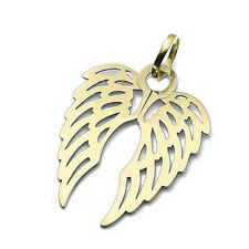 375 9ct Yellow Gold Double Angel Wing Charm Pendant