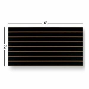 Slatwall Easy Panels, Set of 2 PIECES, 2' H x 4' W Black FREE SHIPPING